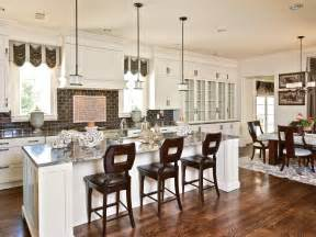 Eat In Kitchen Island Designs by White Functioning Transitional Kitchen Elizabeth
