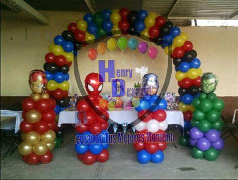 decorar globos superheroes decoraci 243 n con globos vengadores henry decoraciones