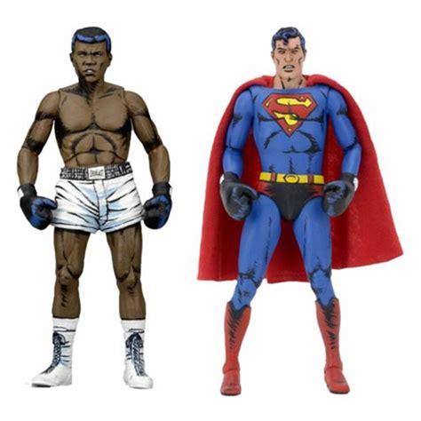 Mainan Figure Superman Seri Jae dc comics superman vs muhammad ali figure 2 pack