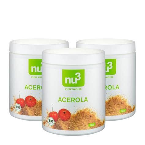 Acerola Scrub 3 x nu3 oganic acerola powder nu3