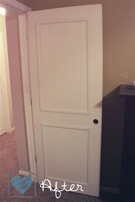 Beadboard Interior Doors - beadboard door makeover