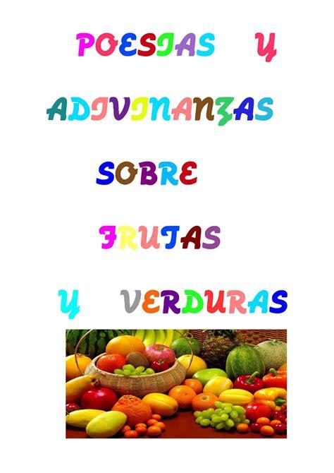 poesia de verduras calam 233 o poes 237 as y adivinanzas sobre frutas y verduras