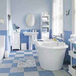 Blue Tiles Bathroom Ideas Coastal Style Blue And White Floor Tiles Bathroom Tile Ideas Housetohome Co Uk