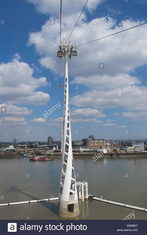 thames river crossing thames cable car river crossing stock photo royalty free
