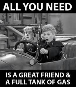 Fun Facts About Lucille Ball all you need is a great friend and a full tank of gas