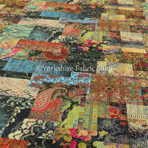 patterned velvet upholstery fabric australia modern printed velvet wonderland patchwork multi coloured