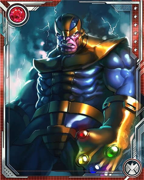 marvel woh card template rpgotg mad titan thanos