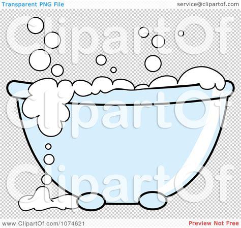 Bathtub Clip Art Clipart Tub With Sudsy White Bubble Bath Royalty Free