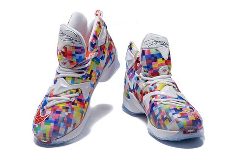 color basketball shoes nike lebron 13 prism multi color white