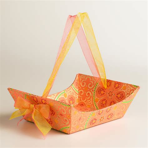 Handmade Paper Gifts - small nomad tiles handmade paper gift basket world