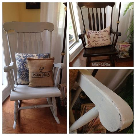 chalk paint rocking chair my distressed rocking chair bm paint in ozark shadows