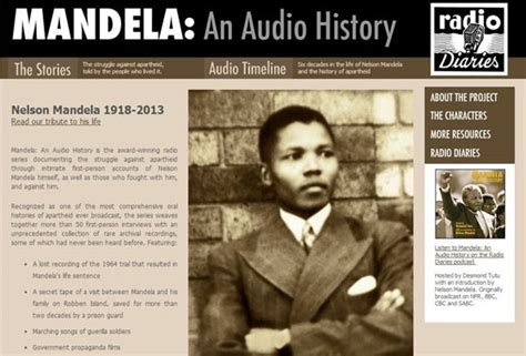 nelson mandela biography audiobook six great multimedia resources on nelson mandela the