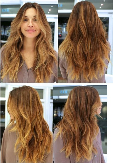Textured Vs Layered Hair | beauty long textured wavy layered hair jpg globezhair