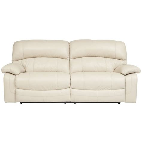 Ashley Damacio Leather 2 Seat Power Reclining Sofa In 2 Seat Leather Reclining Sofa