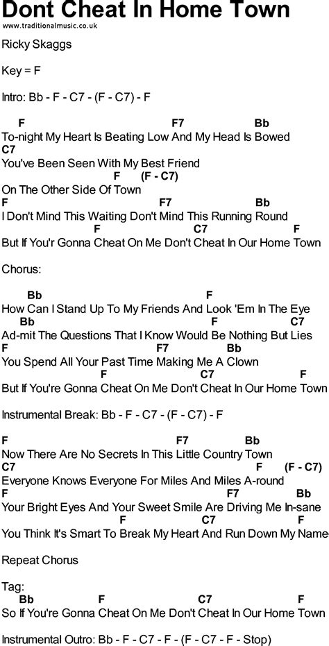 strumming pattern love you till the end bluegrass songs with chords dont cheat in home town