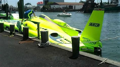 catamaran jet engine miss geico turbine racing boat up close and personal over