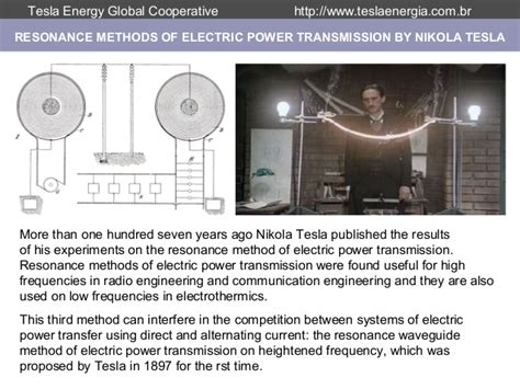 Nikola Tesla Resonance Tesla Electric Alternating Current System Tesla Wiring