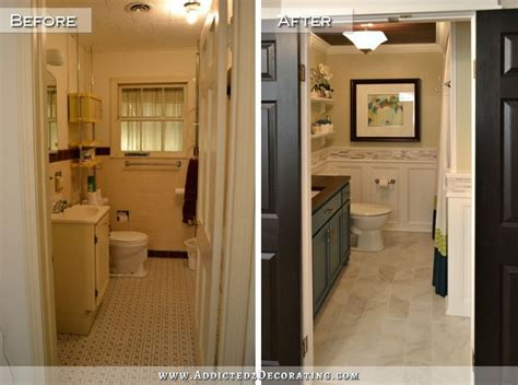 remodeled bathrooms before and after hallway bathroom remodel before after diy bathroom
