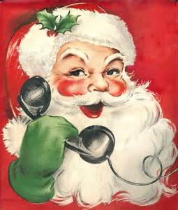 vintage santa claus calls all good children a photo on