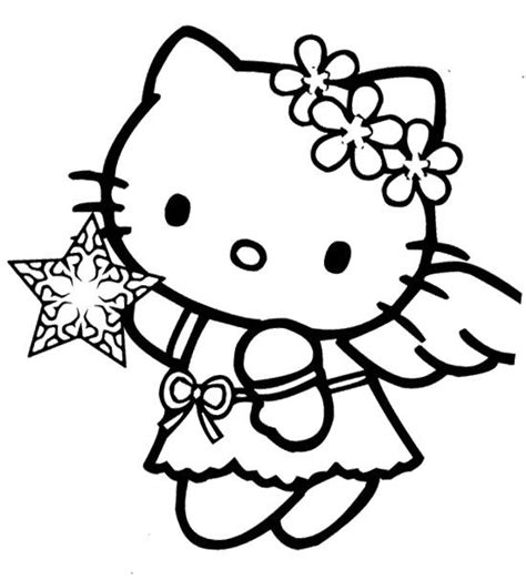 angel kitty coloring page hello kitty christmas angel coloring page coloring pages