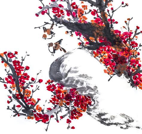 japanse tekeningen bloemen tekening van vis japanse water grafische natuur foto