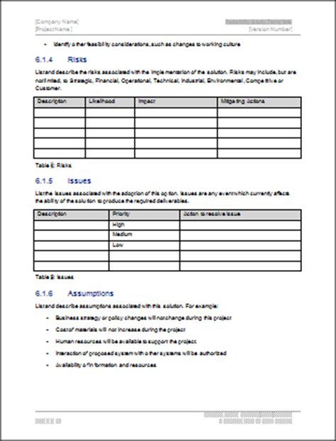 feasibility report template feasibility study template technical writing tips