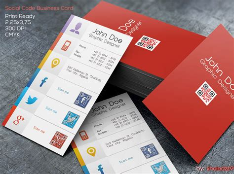 social media business card template social code business card by khaledzz9 deviantart on