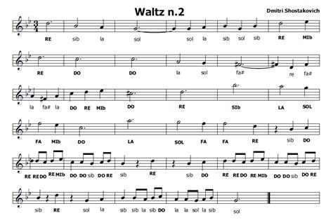 valzer per un testo musica e spartiti gratis per flauto dolce waltz n 2 di