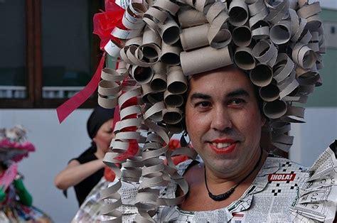 imagenes de disfraces de halloween reciclados disfraces caseros con materiales reciclados para carnaval