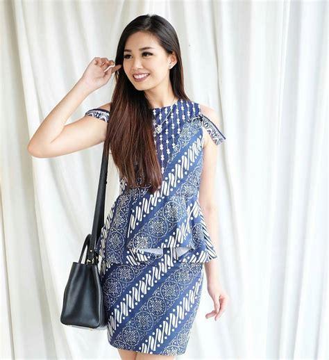 contoh model baju batik kerja wanita model baju terbaru contoh baju batik wanita model yang kekinian