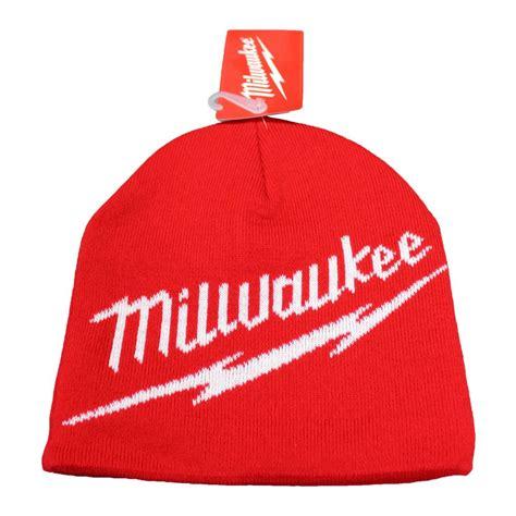 knit beanie toque red milwaukee   milwaukee