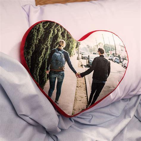 cuscino personalizzato con foto cuscino cuore personalizzato con foto nome dedica