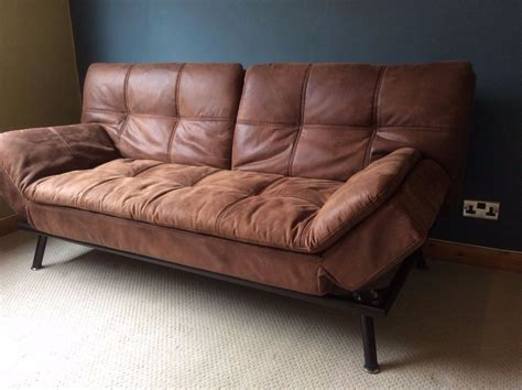double leather sofa bed leather double sofa bed thesofa