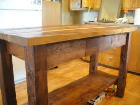 Wooden Kitchen Island by Ana White Kitchen Island From Reclaimed Wood Diy Projects