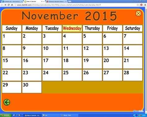 starfall make a calendar image gallery starfall calendar