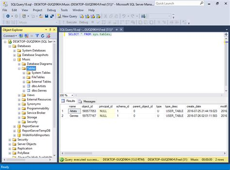 How To Create Table In Sql by Sql Server 2016 Create A Table From An Sql Script