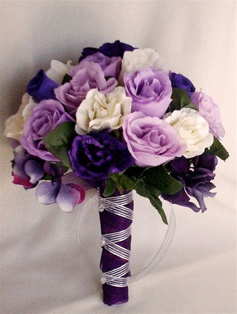 cheap silk flower bouquets for weddings wedding and