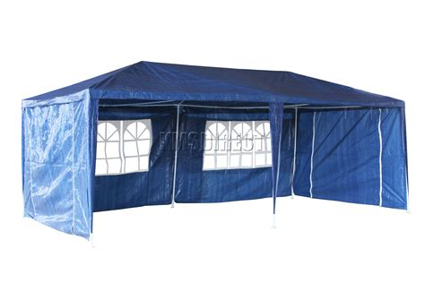 Marquee Awning by Waterproof Blue 3m X 6m Outdoor Garden Gazebo Tent