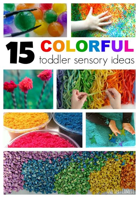 15 colorful sensory activities for toddlers messy play