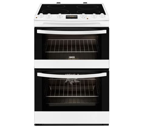 electric induction freestanding cookers zanussi zci68330wa freestanding 60cm white electric oven induction cooker