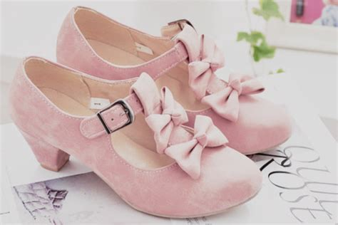 shoes kawaii lovely pastel pink