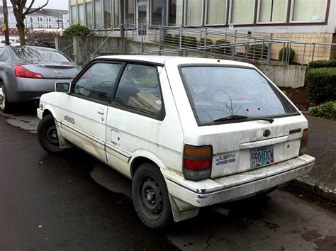 subaru justy stance parked cars 1988 subaru justy rs