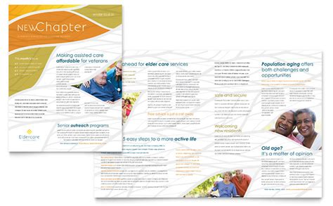 Assisted Living Newsletter Template Word Publisher Newsletter Templates Publisher Free