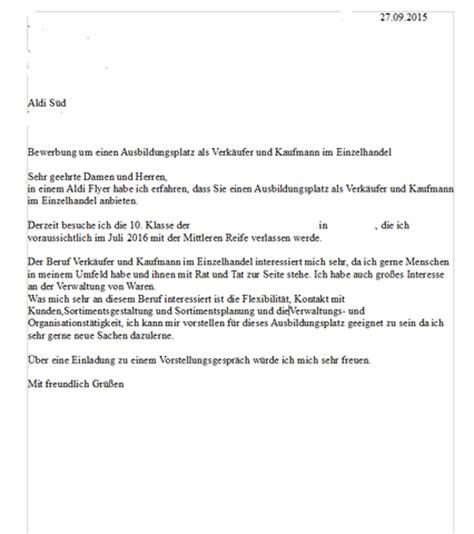 Bewerbung Ferienjob Aldi Habt Ihr Verbesserungsvorschl 228 Ge F 252 R Mein Bewerbungsschreiben Aldi Kaufmann