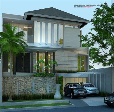 carport pada gambar rumah minimalis modern 2 lantai desain rumah 3 lantai minimalis tropis