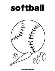 softball color softball printable coloring pages
