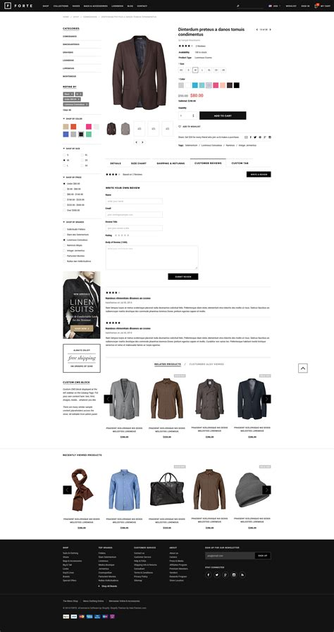 Forte Responsive Shopify Template Halothemes Com Shopify Design Templates