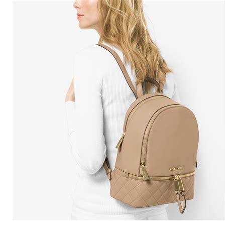 Michaelkors Rhea Backpack lyst michael kors rhea medium quilted leather backpack