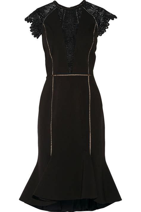 Lq Dress Strect catherine deane gemini guipure lace and stretch ponte dress in black modesens