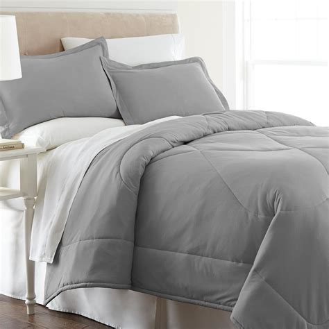 flannel comforter sets micro flannel greystone king 4 piece comforter set